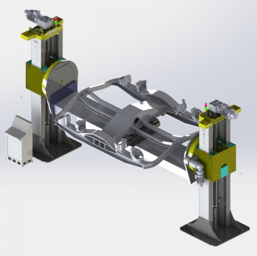 MBD2-03 Double Sided Bogie Lifting And Turning Bench
