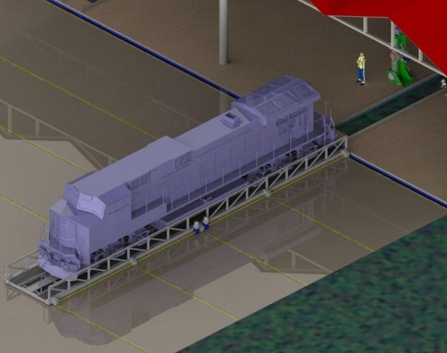VYK-01 Vagon Yan Kaydırma Platformu